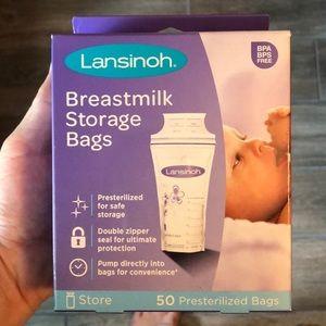Lansinoh breast milk storage bags 50 count